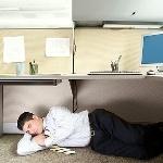 Verveelde werknemer