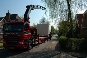 ideale thuiswerkplek container arriveert