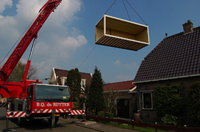 ideale thuiswerkplek container hijsen