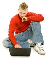 Neefje met laptop